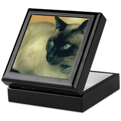 Siamese Cat Tile Box