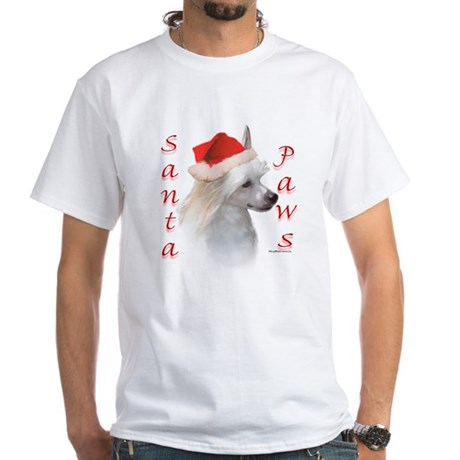 75357156v 100x100 Front Santa Paws Powderpuff White T Shirt