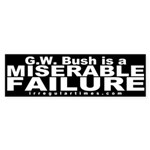 Bush is a Miserable Failure Car Sticker