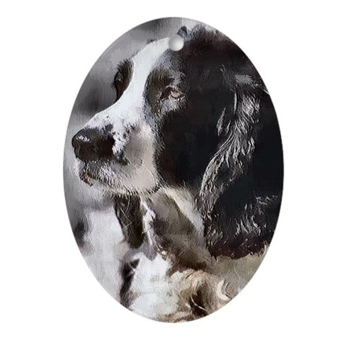 English Springer Spaniel Pets Oval Ornament by CafePress