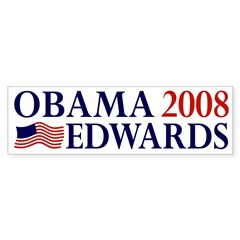 Obama-Edwards 2008 Sticker (Bumper)