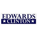 Edwards-Clinton 2008 bumper sticker