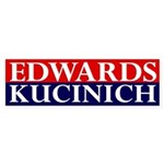 Edwards-Kucinich 2008 bumper sticker