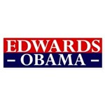 Edwards-Obama 2008 bumper sticker