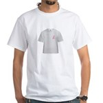 Cancer Awareness Ribbon White T-Shirt