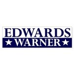 Edwards-Warner 2008 bumper sticker