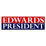 Edwards: President bumper sticker