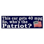Mileage Patriot Bumper Sticker