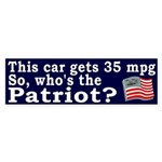 Who's the Patriot Bumper Sticker