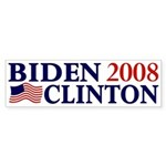 Biden-Clinton 2008 bumper sticker