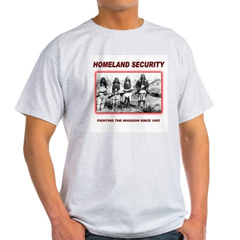 Native Perspective Homeland Security Ash Grey T-Sh Native american Light T-Shirt by CafePress