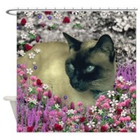 Stella in Flowers I Shower Curtain
