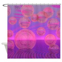 In the Zone Rose & Amethyst Voyage Shower Curtain