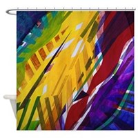 The City II - Rainbow Streams Shower Curtain