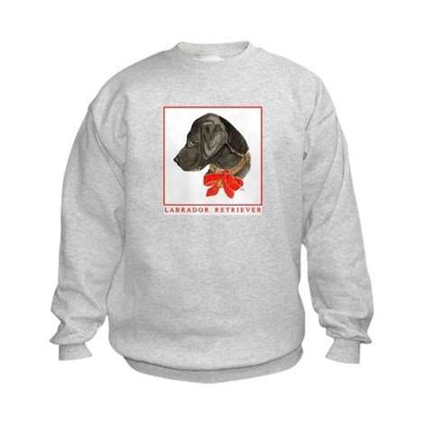 Christmas Holiday Labrador Retriever Kids Sweatshi Pets Kids Sweatshirt by CafePress