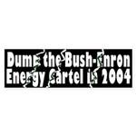 Dump Bush-Enron Sticker (Bumper)