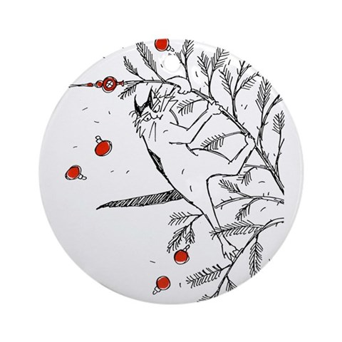 Cat Ornament Round Humor Round Ornament by CafePress