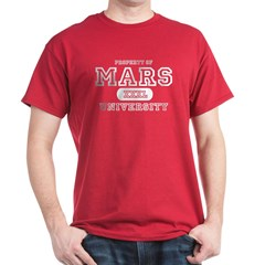 Mars University Property Dark T-Shirt