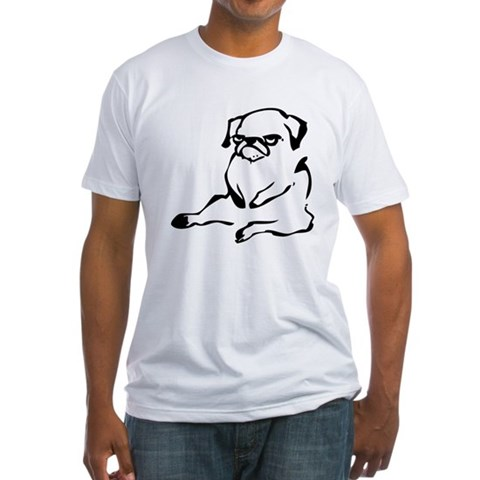 Product Image of sitting pug.png Fitted T-Shirt