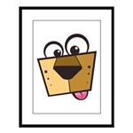 Abstract Dog 01 Large Framed Print
