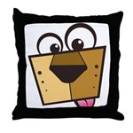 Abstract Dog 01 Throw Pillow