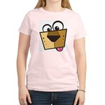 Abstract Dog 01 Women's Pink T-Shirt