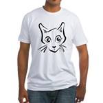 Squiggle Cat 01 Fitted T-Shirt