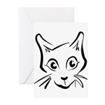 Squiggle Cat 01 Greeting Cards (Pk of 10)