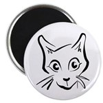 "Squiggle Cat 01 2.25"" Magnet (100 pack)"