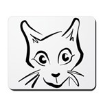 Squiggle Cat 01 Mousepad