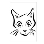 Squiggle Cat 01 Postcards (Package of 8)