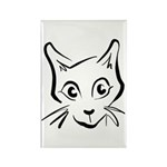 Squiggle Cat 01 Rectangle Magnet (100 pack)
