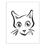 Squiggle Cat 01 Small Poster