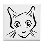Squiggle Cat 01 Tile Coaster