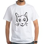 Squiggle Cat 01 White T-Shirt