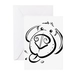 Squiggle Dog 01 Greeting Cards (Pk of 10)