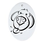 Squiggle Dog 01 Ornament (Oval)