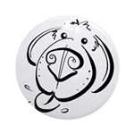Squiggle Dog 01 Ornament (Round)
