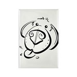 Squiggle Dog 01 Rectangle Magnet