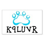 K9LUVR Sticker (Rectangular)