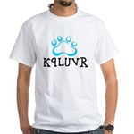 K9LUVR White T-Shirt
