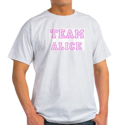 Product Image of Pink team Alice Ash Grey T-Shirt