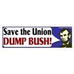 Save the Union Dump Bush Bumper Sticker