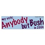 Vote Anybody But Bush Bumper Sticker