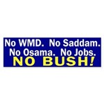No, No, No, No, No Bush Sticker (Bumper)