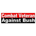 Combat Veteran Against Bush Sticker