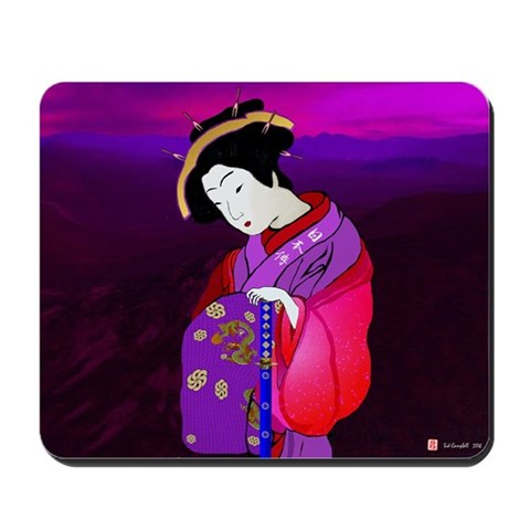, Geisha in the Mist Art Mousepad by CafePress