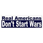 Real Americans Sticker (Bumper)