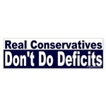 Real Conservatives Sticker (Bumper)