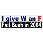 Give W an F Sticker (Bumper)